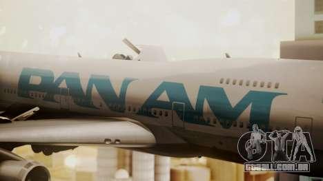 Boeing 747-100 Pan Am Clipper Juan T. Trippe para GTA San Andreas vista traseira