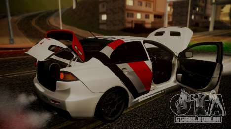Mitsubishi Lancer Evolution X 2015 Final Edition para GTA San Andreas vista superior