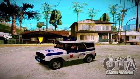 UAZ-caçador de PPP Serviço para GTA San Andreas