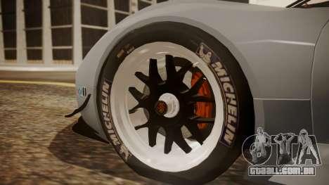 Porsche 918 RSR para GTA San Andreas traseira esquerda vista