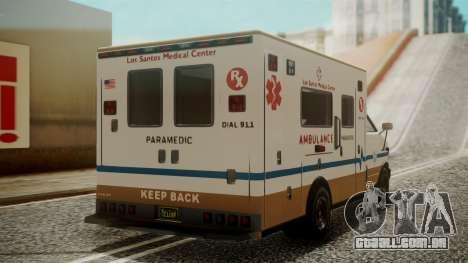 GTA 5 Brute Ambulance para GTA San Andreas esquerda vista