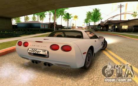 Chevrolet Corvette C5 2003 para vista lateral GTA San Andreas