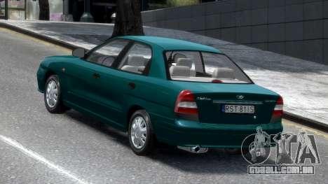 Daewoo Nubira II Sedan S PL 2000 para GTA 4 traseira esquerda vista