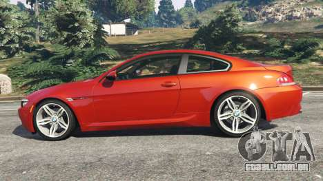 GTA 5 BMW M6 (E63) Tunable v1.0 vista lateral esquerda