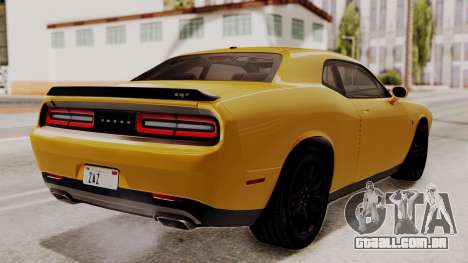 Dodge Challenger SRT Hellcat 2015 IVF PJ para GTA San Andreas esquerda vista