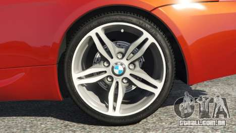 GTA 5 BMW M6 (E63) Tunable v1.0 traseira direita vista lateral