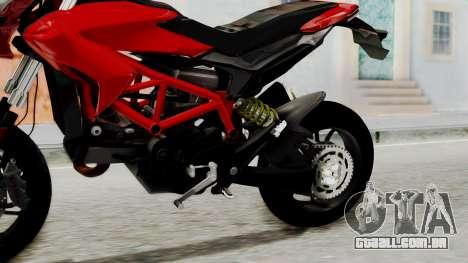 Ducati Hypermotard para GTA San Andreas vista direita