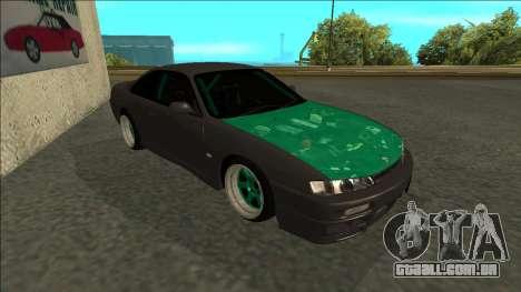 Nissan 200sx Drift para GTA San Andreas esquerda vista