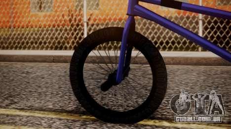 Nueva BMX para GTA San Andreas traseira esquerda vista