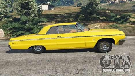 GTA 5 Chevrolet Impala SS 1964 vista lateral esquerda