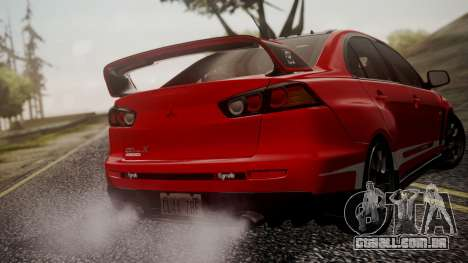 Mitsubishi Lancer Evolution X 2015 Final Edition para as rodas de GTA San Andreas