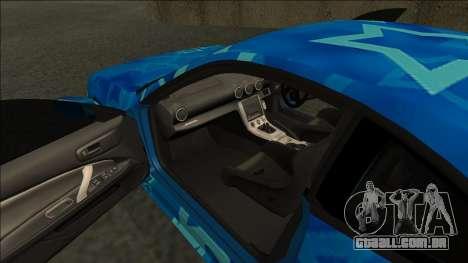 Nissan Silvia S15 Drift Blue Star para GTA San Andreas vista direita