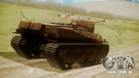 Heavy Tank M6 from WoT para GTA San Andreas esquerda vista