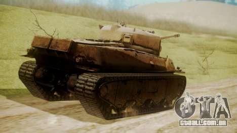 Heavy Tank M6 from WoT para GTA San Andreas esquerda vista