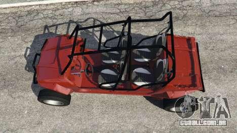 GTA 5 Polaris RZR 4 v1.15 voltar vista