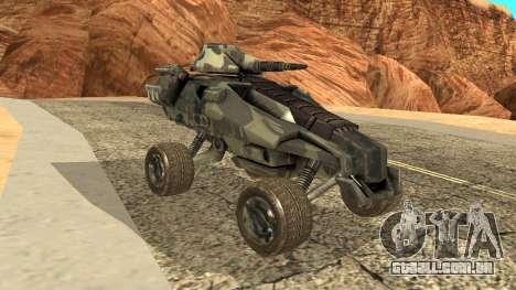 Ghost from Metal War para GTA San Andreas traseira esquerda vista