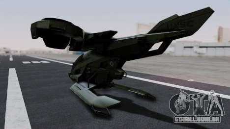 Hornet Halo 3 para GTA San Andreas traseira esquerda vista