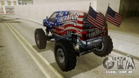GTA 5 Vapid The Liberator para vista lateral GTA San Andreas