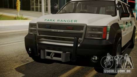 GTA 5 Declasse Granger Park Ranger IVF para vista lateral GTA San Andreas