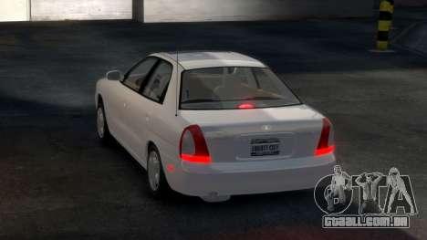 Daewoo Nubira I Sedan SX USA 1999 para GTA 4 vista direita