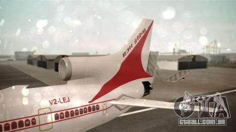 Lockheed L-1011 Air India para GTA San Andreas traseira esquerda vista