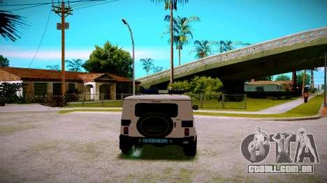 UAZ-caçador de PPP Serviço para GTA San Andreas vista direita