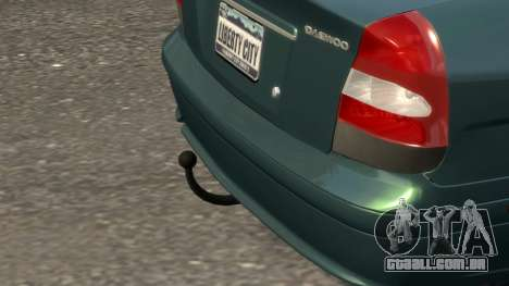Daewoo Nubira II Sedan SX USA 2000 para GTA 4 vista inferior