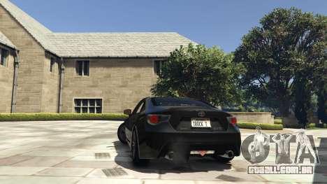 GTA 5 Toyota GT-86 v1.5 traseira vista lateral esquerda