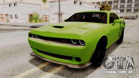 Dodge Challenger SRT Hellcat 2015 IVF PJ para as rodas de GTA San Andreas