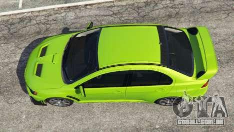 GTA 5 Mitsubishi Lancer Evolution X FQ-400 voltar vista