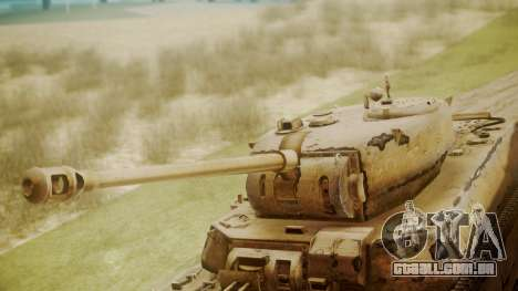 Heavy Tank M6 from WoT para GTA San Andreas vista direita