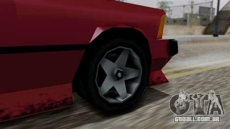 Sentinel XL from Vice City Stories para GTA San Andreas traseira esquerda vista