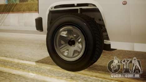 GTA 5 Declasse Rancher XL Police para GTA San Andreas traseira esquerda vista