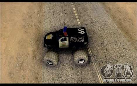 The Police Monster Trucks para GTA San Andreas vista direita
