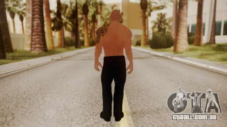 WWE 2K15 The Rock para GTA San Andreas terceira tela
