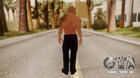 WWE 2K15 The Rock para GTA San Andreas terceira tela