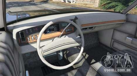GTA 5 Dodge Polara 1971 Police v4.0 traseira direita vista lateral