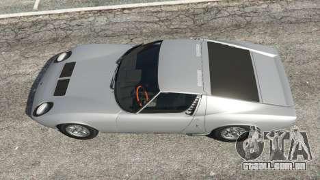 GTA 5 Lamborghini Miura P400 1967 v1.2 voltar vista