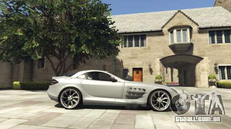 GTA 5 Mercedes-Benz SLR 2005 v2.0 vista lateral esquerda