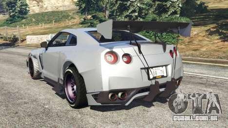 GTA 5 Nissan GT-R (R35) [RocketBunny] traseira vista lateral esquerda
