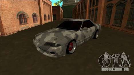 Nissan Skyline R32 Army Drift para GTA San Andreas