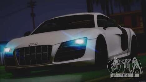 Audi R8 GT 2012 Sport Tuning V 1.0 para GTA San Andreas interior