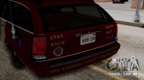Chevy Caprice Station Wagon 1993-1996 SACFD para GTA San Andreas vista interior