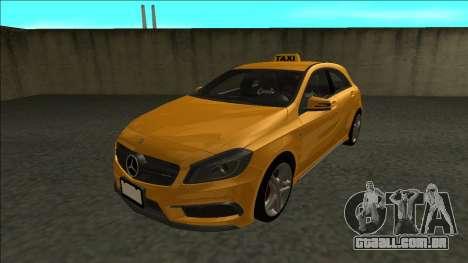 Mercedes-Benz A45 AMG Taxi 2012 para GTA San Andreas traseira esquerda vista