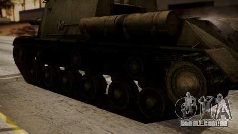 ISU-152 from World of Tanks para GTA San Andreas vista direita
