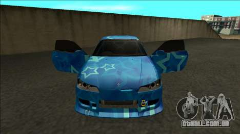 Nissan Silvia S15 Drift Blue Star para GTA San Andreas vista interior