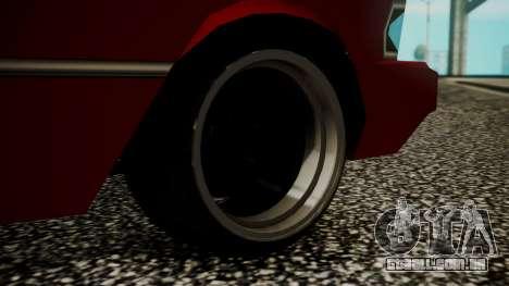 Sentinel Drift para GTA San Andreas traseira esquerda vista