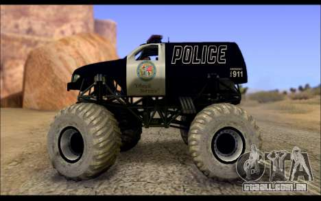 The Police Monster Trucks para GTA San Andreas esquerda vista