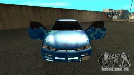 Nissan Silvia S14 Drift Blue Star para GTA San Andreas vista interior