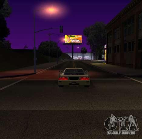 Need for Speed Cam Shake para GTA San Andreas terceira tela